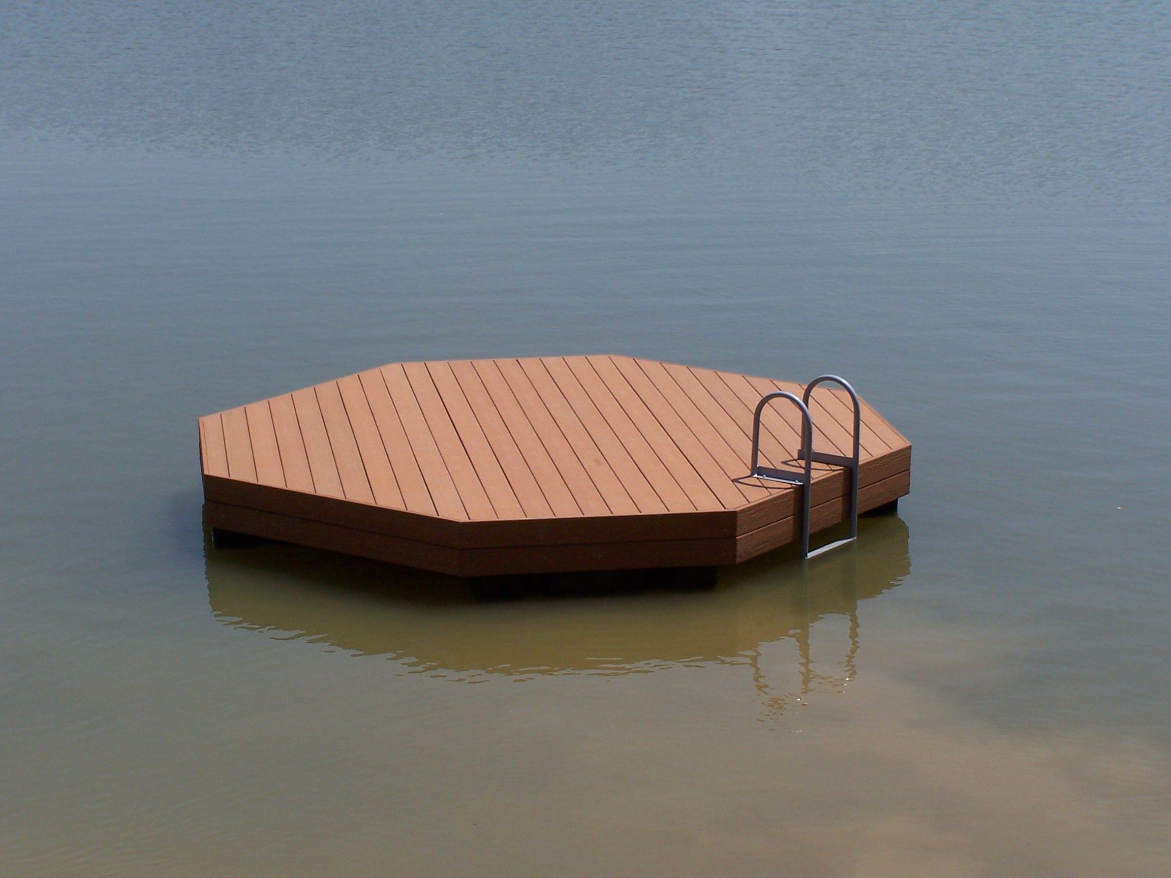 Floating fishing and swimming docks platinum ponds for Floating fishing platform